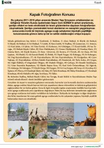 AGUB-9 (Biodiversity at Maden Yapı Quarry Site)